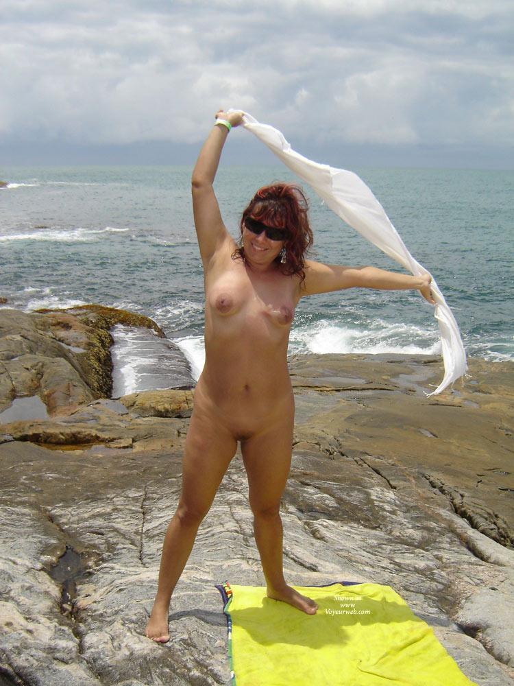 My Wife Beatrice On Beach Again - August, 2012 - Voyeur Web-2017