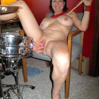 Drums - Big Tits, Brunette Hair, Heels, Mature, Sexy Lingerie, Blowjob