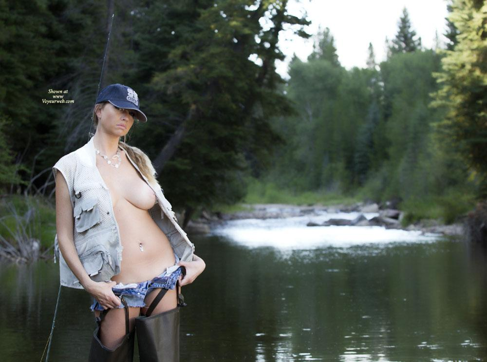Fly Fisherman - Big Tits, Nude Outdoors, Dressed , This Is A New Model I Worked With On A Beautiful River