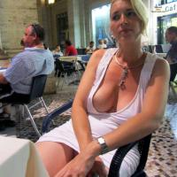 Rome - Big Tits, Blonde Hair, Exposed In Public, Nude In Public, Dressed , It Was Hot In Rome