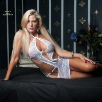 Vikki in White - Big Tits, Blonde Hair, Sexy Lingerie , Vikki Shows Off Her White Lingerie