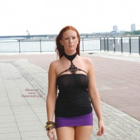Tight Skirt Along The Riverside