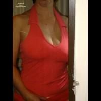 Katie Kleavage In The Mirror
