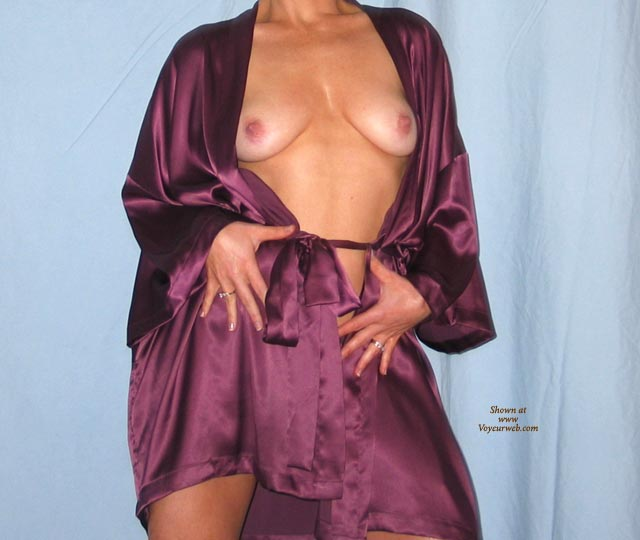 Pic #1Amy In Purple Silk