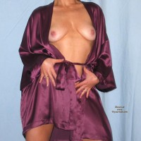 Amy In Purple Silk