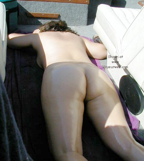 Pic #1 my wife tanning