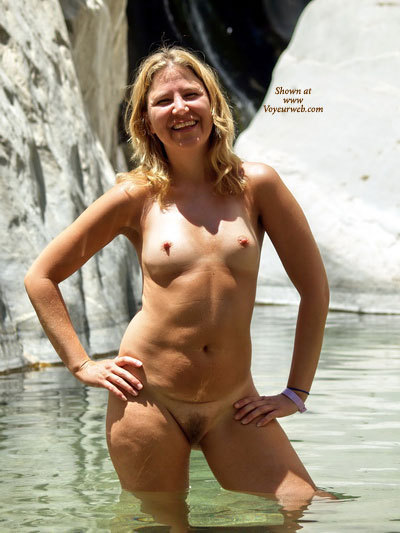 Nude In Water - Blonde Hair, Firm Tits, Hard Nipple, Long Hair, Naked Girl, Nude Amateur, Nude Wife , Knee Deep Water, Nipples Standing At Attention, Pleasant Smile, Perky Nipples, Hairy Pussy, Waiting Naked, Blond, Outdoor Bathing