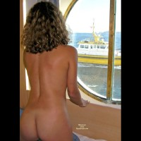 Boat Passing - Blonde Hair, Dark Hair, Naked Girl, Nude Amateur , Tan Lined Butt, From Behind, Nautical Bunk Beauty, Sexy Toned Back, Curly, Dark Blonde Hair, Porthole Tug Tease, Nude Head Andtorso From Behind, Naked On The Boat, Inside A Boat