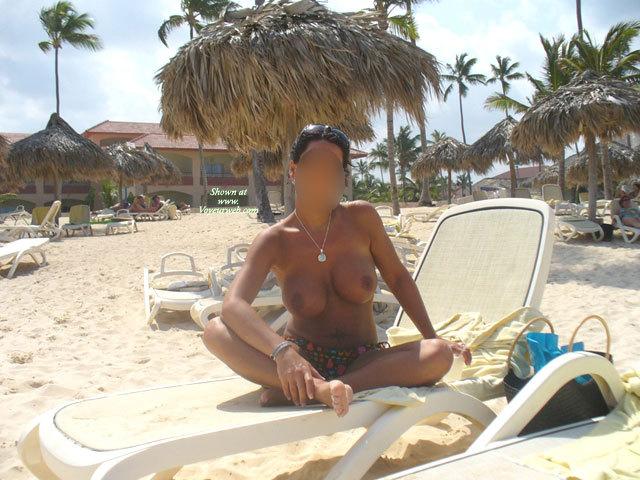 Sun Beach , Watch My Beautiful Girl Friend On The Beach