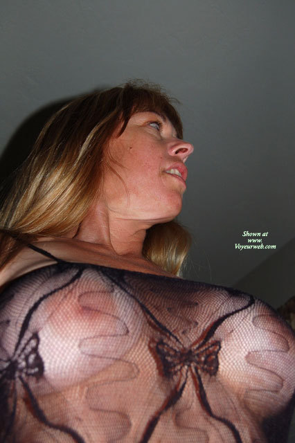 Sexy Breasts Through Transparent Blouse - Blonde Hair, Long Hair, See Through , Twin Peaks, Body Stocking Up Look, Large Boobs, Fishnet Tits, Fishnet Body Stocking Breast View, Looking Away From Camera, Large Areola, Big Boobs, Nipples Through Bodystocking, Sheer Top, Black See Through Mesh Top, Black See Through Top, Negligee