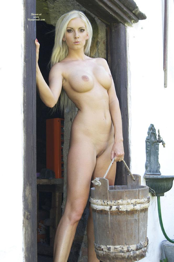 Need Milk? - Big Tits, Blonde Hair, Nude Outdoors, Shaved , Sexy Bianca Is Posing At An Old Farm....