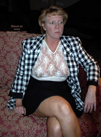 Pic #1 Rhonda Flashing In Hotel Lobby