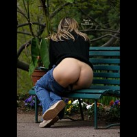 Milf Exposing Hot Ass On Park Bench - Flashing, Milf , Mature Milf, Flashing Ass On A Park Bench, Butt Shot On A Bench, Facing Away, Pretty Ass On A Bench, Ass Naked, Pants Below The Ass, Hot Milf Ass, Sittting On Park Bench