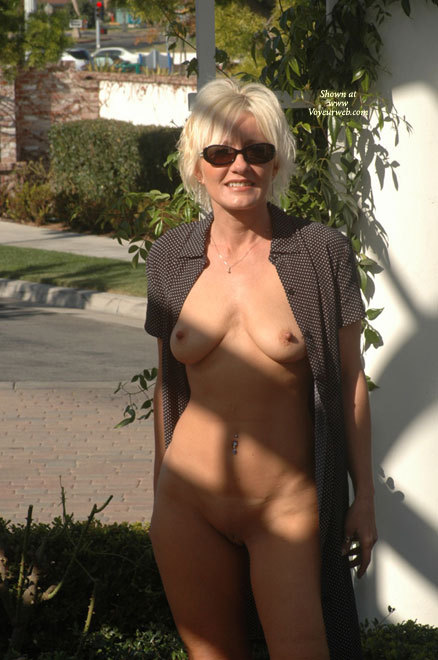 Are Amateur milf naked outdoors with you
