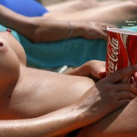 Voyeur Beach - Erect Nipples, Firm Tits, Huge Tits, Perky Tits, Topless Beach, Beach Tits, Beach Voyeur , Huge Tits On The Beach, Lying On Back, Suntanning With A Classic Beverage, Puffy Areolas, Full Round Tits, Beach Nipples, Perky Nipples, Shapely Tits, Nipples Up