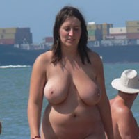 Real Big Ones on The Beach - Beach Voyeur , You Also Like Big Ones? Real Natural Beaty's Passing By On The Beach.