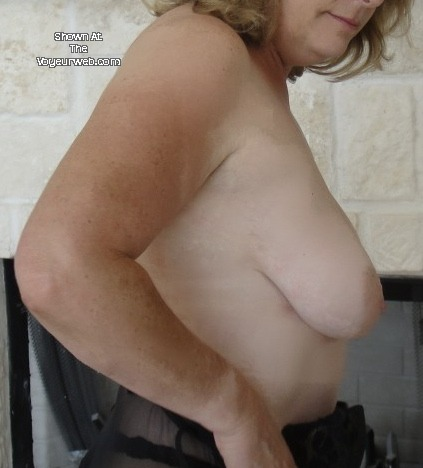 Pic #1Very small tits of my wife - Jan