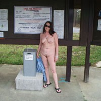 Playing in Mississippi - Brunette Hair, Nude In Public