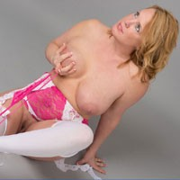 "Pink & White - Sexy Lingerie , My Contribution To This Month's ""Stockings Theme""  Hope You Enjoy Them."