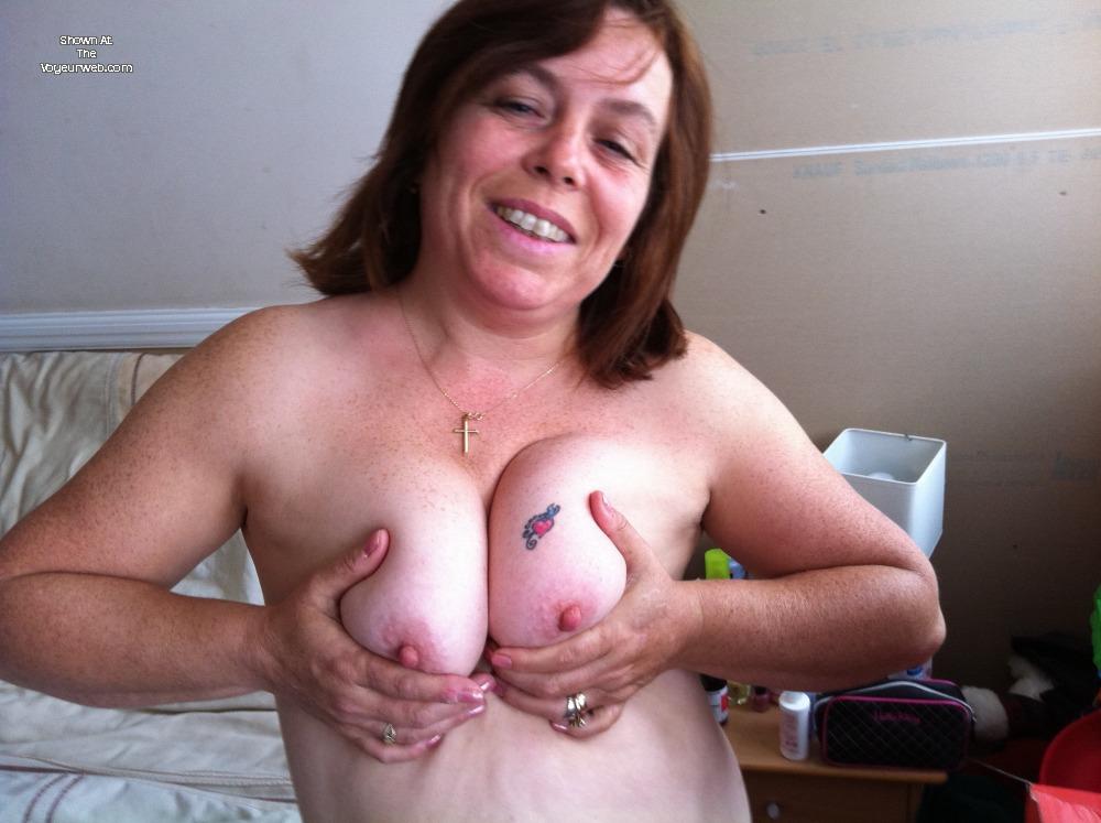 Husband fucks wife's fat tits