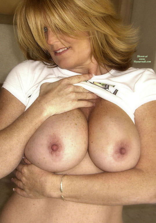 Milf Exposing Tits - Blonde Hair, Large Breasts, Milf , Back To Wall, Exposing Breasts, Shoulder-length Hair, Wife Showing Her Boobs, Pulled Up Shirt, Lifting T-shirt, Large Tits, Hand Under Breasts, Many Freckles, Large Erect Nipples, Standing Cleavage, Strawberry Blond Hair, Erect Pink Nipples