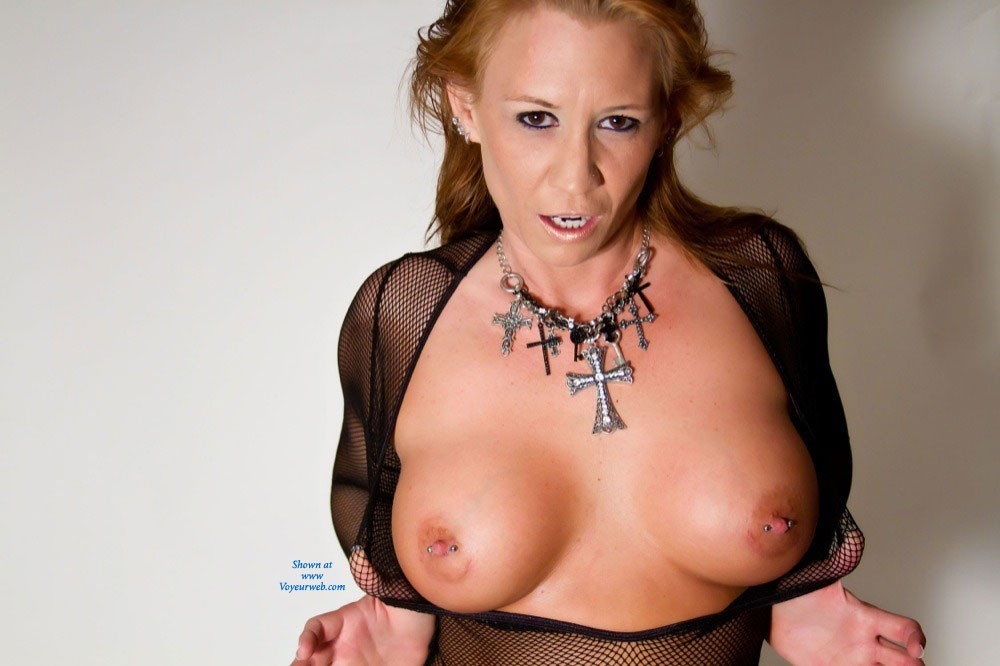 Sexy in My Fishnet Bodysuit ! - Big Tits, Sexy Lingerie , Sexy In Fishnet Body Suit !