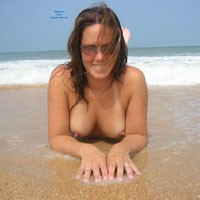 At a Secluded Beach - Big Tits, Beach Voyeur , At A Secluded Beach