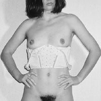 Strip B&W - Brunette, Striptease, Bush Or Hairy