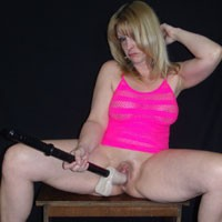 Hot in Pink... - Blonde, Shaved, Toys
