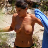 Eva Boobs - Beach Voyeur , Eva Boobs In Africa