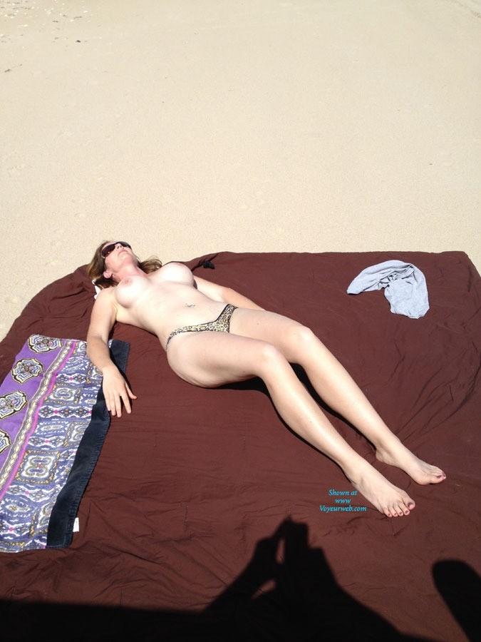 Beach Day - Bikini, Beach Voyeur, Wife/wives , Wife Bares It At The Beach... People 100 Feet Away From Us... Intense