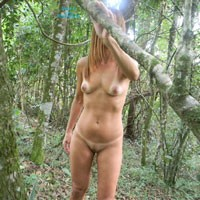 Hana Came Back - Brunette Hair, Nude In Public, Pussy Lips, Shaved, Small Tits , I Was Alone In The Woods And Thought About Doing Some Pictures For You Guys And For Me Too, I Love Reading Your Comments This Is Exciting For Me Too ...