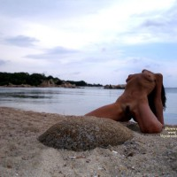 Beauty On The Beach - Landing Strip, Small Tits, Spread Legs , Legs Spread To Sand On Beach, Exposing Pussy, Arched Back, Beach, Visible Ribcage, Sunset Special, Hottie On Beach, Legs Spread Showing Perfect Shave, Head Thrown Backward