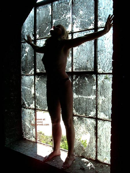 Topless In Front Of Window - Shadows , Topless In Front Of Window, Bare Feet, Shadows, Shadow Pic