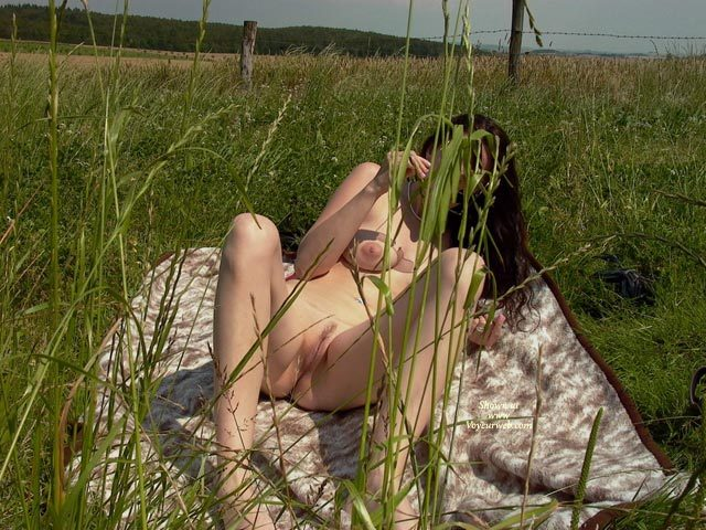 """Landing Strip Pussy - Brunette Hair, Landing Strip, Spread Legs, Trimmed Pussy, Naked Girl, Nude Amateur , Legs Spread Showing Pussy, Naked In Camo Grass, Naked Woman On Blanket, Recling Nude In Field With Legs Apart, Laying In Field Nude, Nude In Field On Blanket, Nude Outside, Nude In Nature, Snatch In The Grass, Landing Strip"""" Shave Job, Brunette Outdooors Laying On Blanket Nude Knees Bent, Reclining, Propped With An Elbow, Face Covered Up"""