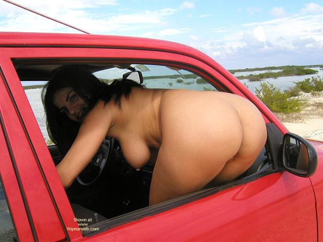 Flashing In Car , Flashing In Car, Ass Shot