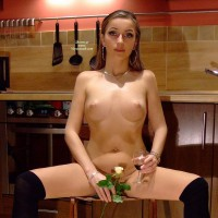 Totaly Nude In The Kitchen - Naked Girl, Nude Amateur , Puffy Areolas, Sitting Spread, Naked In The Kitchen, Pierced Naval, Nude In Kitchen, Sitting In The Kitchen, In The Kitchen, Pink Areolas