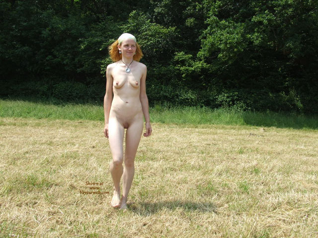 A Lark In The Countryside , Once, When I Was Larking In The Great Outdoors, One Voyeur Showed Up And Made Some Pics.. Hope You'll Like Them.