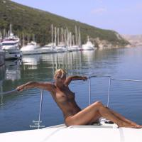 Nude on The Boat - Big Tits, Blonde Hair, Wet , Crazy Day..