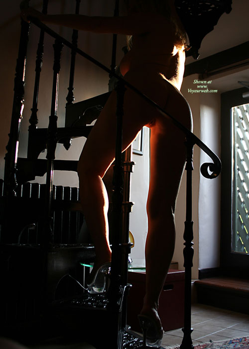 Nude Ascending Staircase - Heels, Naked Girl, Nude Amateur , Feminin Glow, Standing On Stairs, Ass Toward Camera, Ass Shot, Standing On Spiral Staircase, Pussy Shot, Looking Away From Camera, Sticking Her Bum Out
