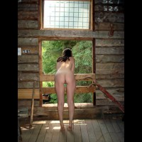 Nude Girlfriend - Brunette Hair, Naked Girl, Nude Amateur , Looking Out The Window, Ass Toward Camera, Slim Body, Rear View, Pussy From Behind, Tiptoes, Nude At The Window, Bent Over From Behind, Nude In Barn, Brunette Hair, Shapely Ass And Legs
