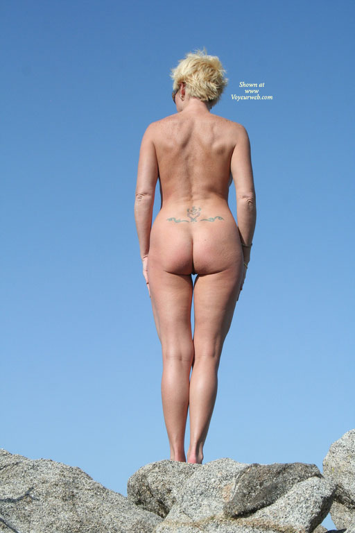 Nude MILF From Behind - Blonde Hair, Milf, Naked Girl, Nude Amateur , Showing Backside, Horizontal Butt Cleavage, Short Blond Hair, Standing On Rocks, Rear View, Legs Together, Standing Upright, Tattoo Lower Back, Naked Outside, Standing On Rocks, Standing Naked On A Rock, Ass Shot Outside, Standing In Nature, Rear Shot