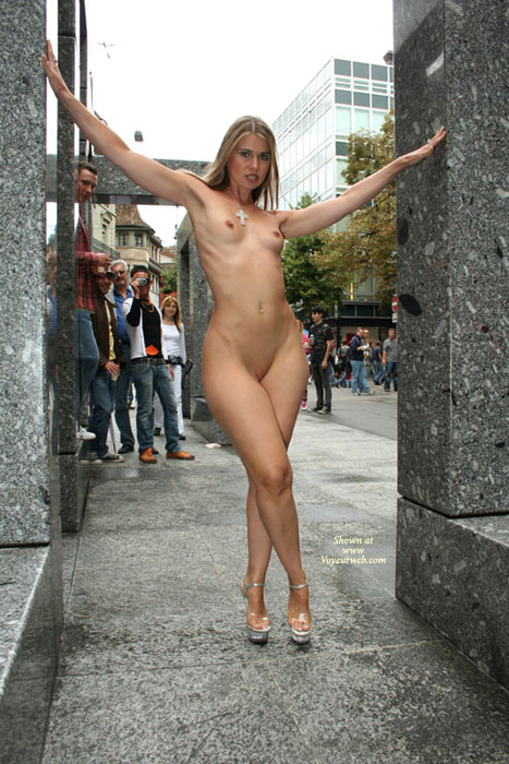 Nude Exhibitionist Girl In Pedestrian Zone - Blonde Hair, Exhibitionist, Flashing, Nude In Public, Shaved Pussy, Small Breasts, Small Tits, Naked Girl, Nude Amateur, Small Areolas , Firm Body, Nude Standing In Heels With Legs Crossed In Public, Naked Exhibitionist, Nude Standing Outside In Heels, Small Dark Areolas, Nude Outdoors, Nude In Heels, Public Nude, Standing Nude In Front Of Crowd In Heels, Very Small Tits, Full Frontal, Full Frontal Nude Downtown, Shaved For All To See