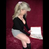 Her Short Skirt