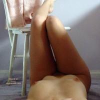Legs Up On Chair - Black Hair, Hard Nipple, Long Legs , Legs Up On Chair, Black Hair, Full Frontal Nude, Hard Nipples, Long Legs, Dark Hair
