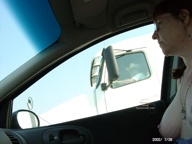 Topless Codriver - Flashing Tits, Flashing, Necklace, Nude In Car , Topless Codriver, In A Car, Flashing Tits, Happy Truck Driver, Naked In Car, Trucker Boobs, Driving Flash, Necklace, Car Flashing, Truck Flashing