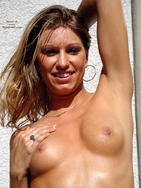 Topless Outside - Nipples, Topless Outdoors , Topless Outside, Nipple Closeup, Looking At Camera