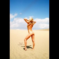 Ass Shot - Blonde Hair, Sexy Ass , Ass Shot, Sand Dune, Blonde Hair, Naked Girl In Sand Dunes