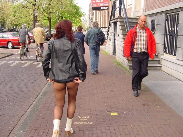 Pic #1 Monique Flashing Her Hot Behind In Amsteram