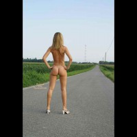Naked On The Road - Blonde Hair, Long Hair, Long Legs, Round Ass, Naked Girl, Nude Amateur , Nude On A Road, Naked Blonde, Nude In Heels, Hands On Hips, Cute Ass, Statuesque Blond On Coutryside Road, Tight Ass And Lean Legs, Long Road Ahead